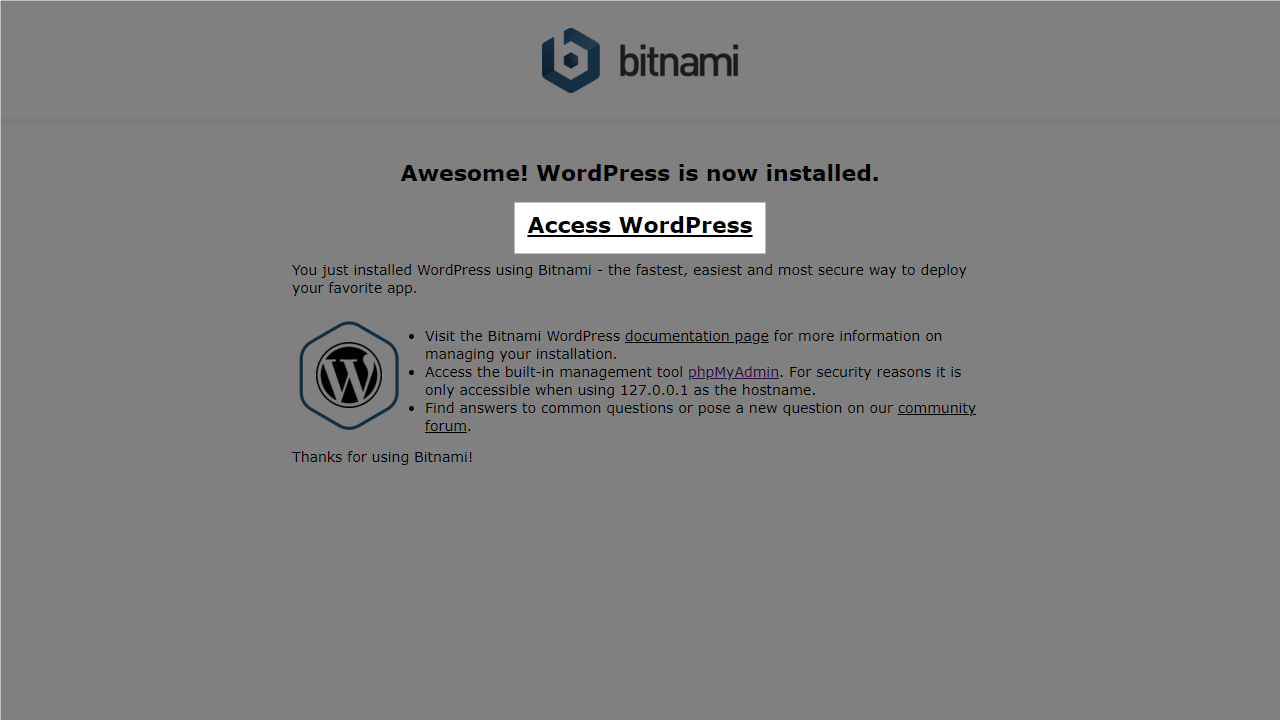Access WordPress