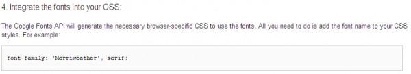 Google Fonts CSS