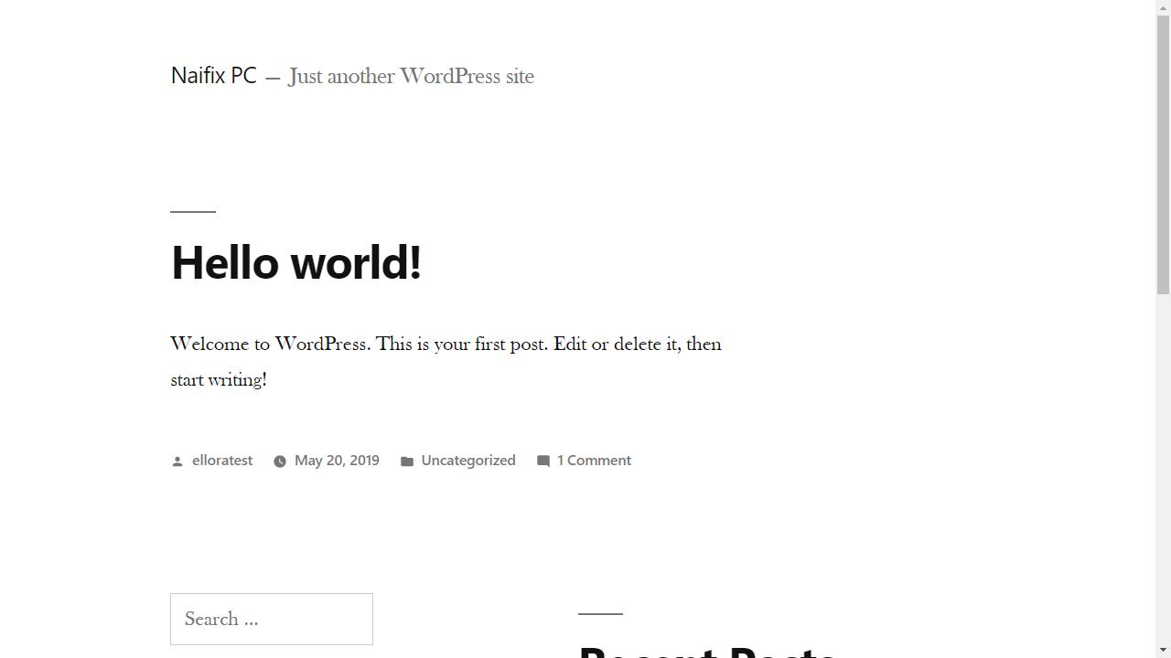 ローカルにインストールしたWordPress