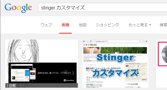 Stingerカスタマイズ検索結果