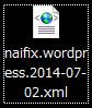 WordPress エクスポート XML
