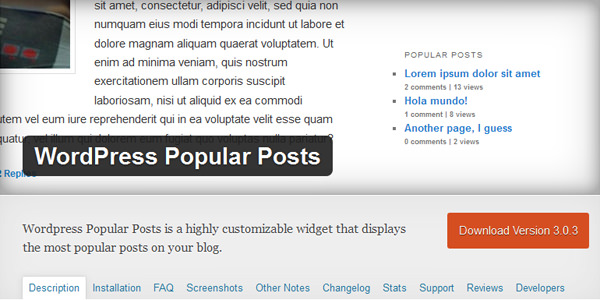 WordPress Popular Post