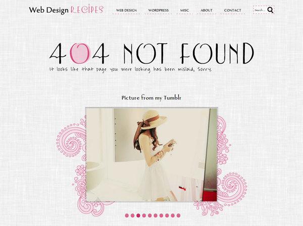 Webデザインレシピ 404ページ