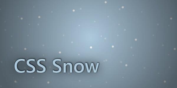 CSS Snow