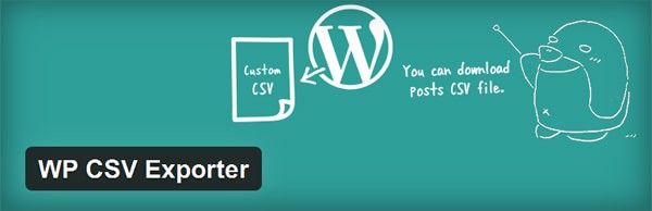 WP CSV Exporter