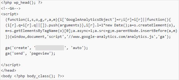 WordPressにGoogleアナリティクスのコードを挿入
