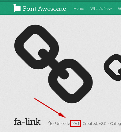 Font Awesome Unicodeの場所