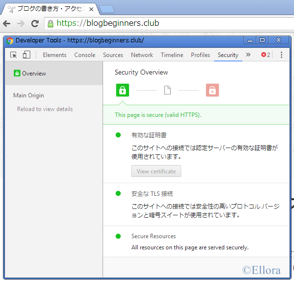 HTTPS化に成功