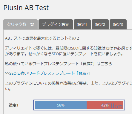 ABテスト結果