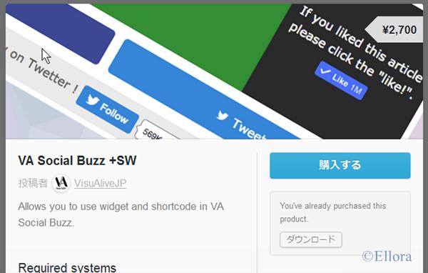 VA Social Buzz +SW 購入ページ