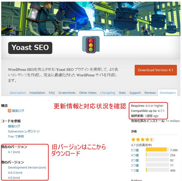 Yoast SEO バージョン情報