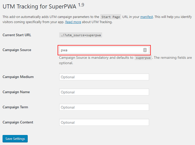 Super PWA Campaign Source